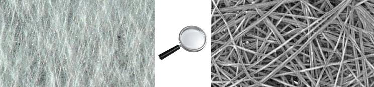геотекстиль под микроскопом
